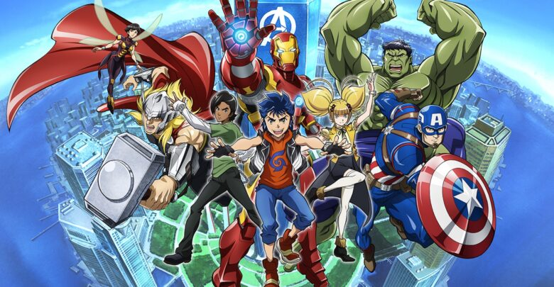 Download Marvel Future Avengers 720p x265 dual audio encoded anime